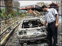 Iran petrol station