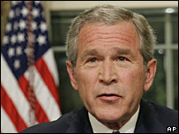 President Bush making an address to the nation in a May 2006 file photo