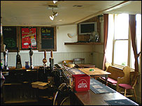 Inside The Crown pub in Knaphill
