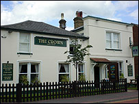 The Crown pub in Knaphill