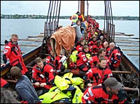 Crew on Viking boat   Image: BBC