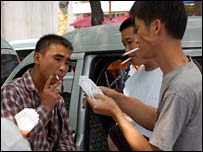 Smokers in Beijing