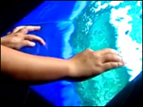 Jeff Han's touch-screen demo at TEC 2006