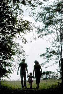 A family out for a walk, BBC