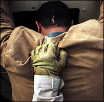 Iraqi is arrested by US soldier