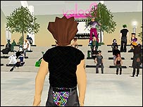 Screenshot of Second Life, BBC