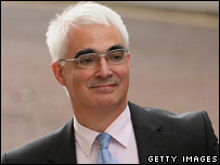 Alistair Darling arrives ahead of his first Cabinet Meeting as Chancellor