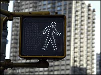 Crossing sign in New York