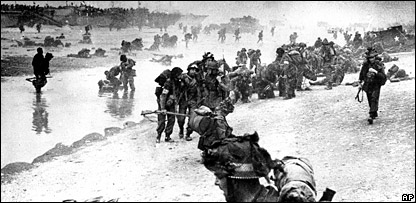The D-Day landings at Normandy