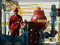 Worker at a Chinese oil and gas excavation well