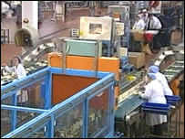 Birds Eye staff on the production line in Hull