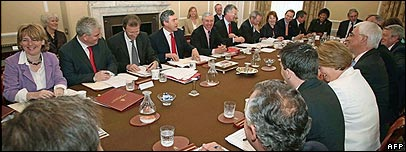 Gordon Brown's first Cabinet meeting