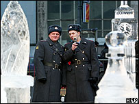 Ice chess match in Moscow