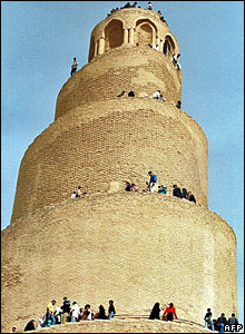 The Spiral Minaret in the ancient archaeological city of Samarra in Iraq