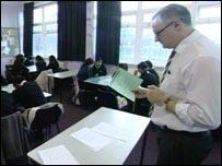 Class at Grange School, Oldham
