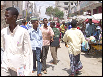 The main market in Mogadishu