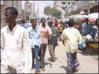 The main market in Mogadishu