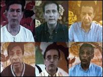 Diputados secuestrados en video de las FARC
