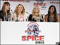 Spice Girls at the press conference