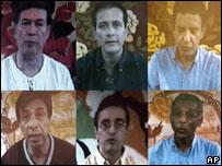 Diputados secuestrados en video de las FARC.