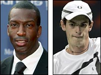 Michael Johnson and Andy Murray