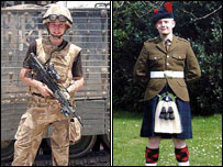Pte Jamie Kerr (left) and Pte Scott Kennedy