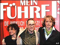 Stars of film Mein Fuehrer at opening night in Berlin