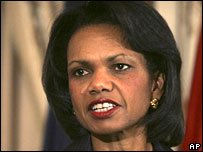 US Secretary of State Condoleezza Rice (file picture)
