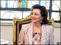 Suzanne Mubarak (file image)