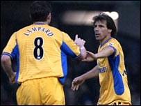 Frank Lampard and Gianfranco Zola