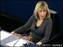 Alessandra Mussolini in the European Parliament