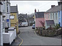 The Pembrokeshire village of Manorbier