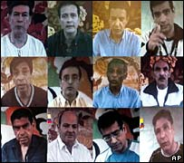 Pictures of the 12 hostages released by the Farc in April