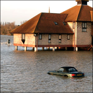 Flooding in St Ives, Cambridgeshire
