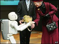 Asimo y la reina Margarita de Dinamarca