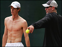 Andy Murray and his coach Brad Gilbert