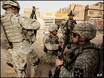 US soldiers in Baghdad