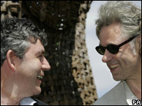 Gordon Brown and Bob Geldof