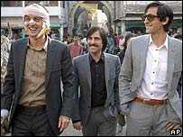 Owen Wilson, Jason Schwartzman and Adrien Brody in The Darjeeling Limited
