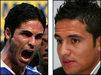 Mikel Arteta and Tim Cahill have committed themselves to Everton
