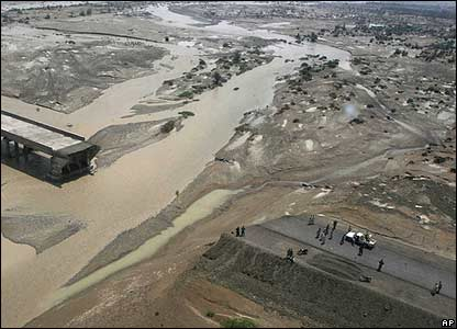 Infrastructure damage in Turbat