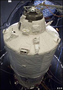 ATV in thermal vacuum test (Esa)