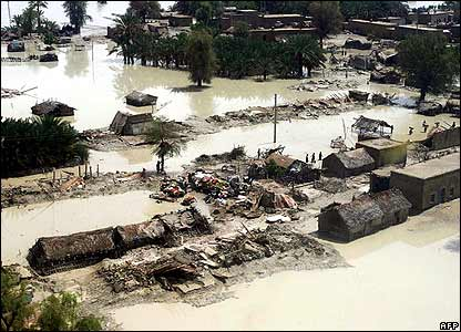 Flooding in Turbat district