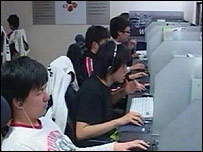 People practising their gaming skills