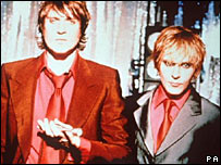 Simon Le Bon and Nick Rhodes
