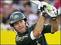Ponting played a series of elegant and powerful drives