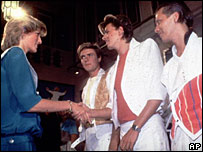 Princess Diana and Duran Duran, pictured in 1983