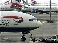 BA plane at Heathrow