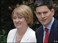 Jacqui Smith and David Miliband