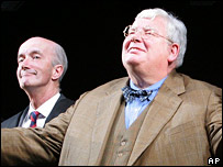 Richard Griffiths (r) and Clive Merrison
